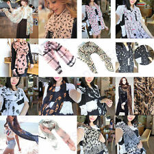 New Fashion Lady Girls Vintage Long Soft Chiffon Scarf Wrap Shawl Stole Scarves