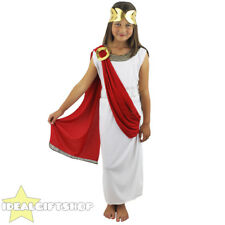 ROMAN GODDESS COSTUME FANCY DRESS GREEK TOGA ATHENA ANCIENT KIDS SCHOOL GOD