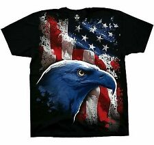 AUTHENTIC AMERICAN ICON PATRIOTIC EAGLE FLAG STARS AND STRIPES T TEE SHIRT S-2XL