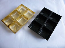 6 x 6 Chocolate Inserts for your own Chocolates or Truffles  in Gold or Black