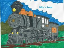train theme Kids room wall art Print Poster picture PERSONALIZED FREE