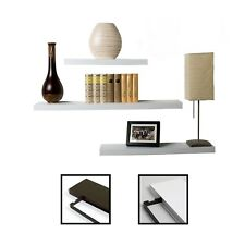 STILISTA® 3x Designer Wandregal Wandbord Bücher DVD Regal Board dunkelbraun