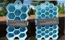 Ouset Silicone Hexagonal Ice Cube Tray Moulds  - Large or Small - Chocolate too