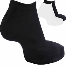 mens & ladies womens Trainer Liner socks sports 3,6,9,12,24 pairs black white D5