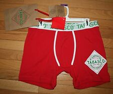 NWT Mens Red TABASCO Red Boxer Briefs w/Gift Bag ~Var Sizes~