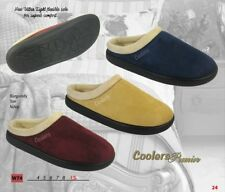 COOLERS LADIES Slip on Mule Slippers MICROSUEDE Warm Fleece Lined POST FREE