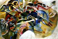 PAINTING WITH WIHTE BORDER MOSCOW 1913 ABSTRACT BY VASILY KANDINSKY REPRO