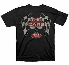 THE CARS FLAGS 1980 TOUR ALBUM INDIE ROCK BAND RACING MUSIC T TEE SHIRT S-2XL