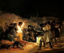 THE THIRD OF MAY 1808 SPANISH RESISTENCE TO NAPOLEON WAR EXECUTION BY GOYA REPRO