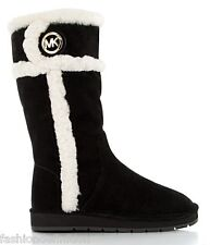 New Michael Kors Women Black Suede WINTER TALL BOOTS II Shoes Snow MultiSize