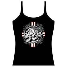 Barbed Wire Skull Tank Top