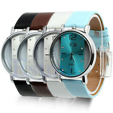 Stainless Steel Womens/Mens Leather Quartz Watches Wrist Watch Hot New Style
