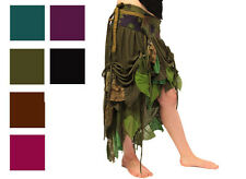 High-Front Ragged Burlesque Pixie Steampunk Wrap Skirt Psy Trance 8-16