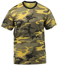 t-shirt camo yellow stinger camouflage cotton poly blend rothco 5994