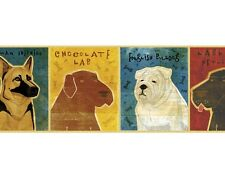 Top Dog Breed Mural Style Pre-Pasted Wallpaper Wall Border ~ Size Choice