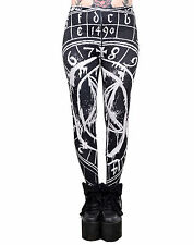 TOO FAST PENTAGRAM LEGGINGS TATTOO ROCK GOTHIC PUNK JEANS ROCKABILLY PANTS GOTH
