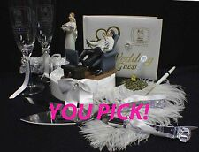 "VIDEO ""New Game"" YOUR Choice Wedding Cake Topper, Knife set or Book funny gamer"