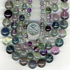 "RAINBOW FLUORITE Round Beads 16"" strand You Select Size 6-8-10-12mm"