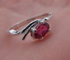 Genuine .5 Carat Faceted Natural Pink Tourmaline in 925 Sterling Silver Ring