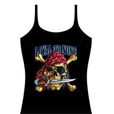 Loyal To None Pirate Skull - Women's Biker Tank Top