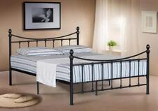 4FT SMALL 4FT6 DOUBLE 5FT KING SIZE METAL BED FRAME BEDSTEAD & MATTRESS