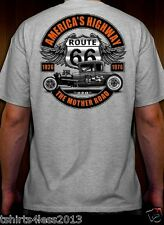 AMERICAN'S HIGHWAY THE MOTHER ROAD ROUTE 66 HOT ROD T-SHIRT SMALL TO 4XL NEW!!