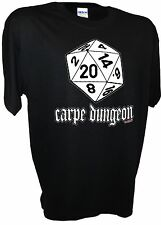 Carpe Dungeon D20 Wargaming Dragons Fantasy Gaming MMORPG 20 Side Dice RPG Tee