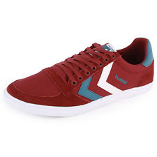 Hummel Slimmer Stadil Low 63-383 Unisex Trainers Burgundy New Shoes All Sizes