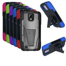 Phone Case For Samsung Galaxy S 4 Active i537 Silicone Corner Hard Cover Stand