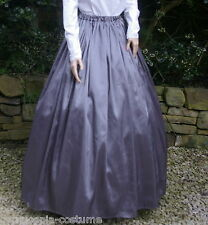 Ladies SKIRT Victorian / Edwardian costume gentry fancy dress ,(grey)