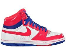 Nike Ladies COURT FORCE HIGH 407872 Wht/Red 112 Hi Top Trainers UK 4.5,5,5.5,6