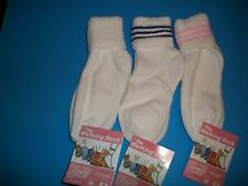 3 Pair Walking Socks By Comfo Soles Size 9-11 NWT Ventilated, Pink, Blue & White