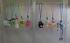 Beaded Lanyard Zipper Pull, Cell Phone Charm, Keychain Charm *New