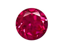 2mm - 10mm Round AAAAA Quality Diamond Cut Pigeon Blood Synthetic Lab Ruby Gems