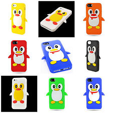 For Apple iPhone 5S / 5 Cute Penguin Design Silicone Soft Flexible Skin Case