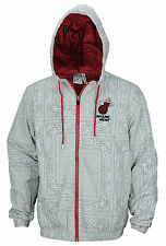 Zipway NBA Men's Miami Heat Windbreaker Jacket, Paisley Gray