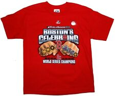 BOSTON RED SOX WORLD SERIES CELEBR8ING 8 RINGS TEE 2013 CHAMPIONS Boys Tees MLB