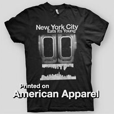 NEW YORK CITY EATS IT'S YOUNG NYC Make It America CRISP American Apparel T-Shirt