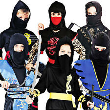 Martial Arts Ninja Boys Fancy Dress Japanese Samurai Childrens Costumes Outfits