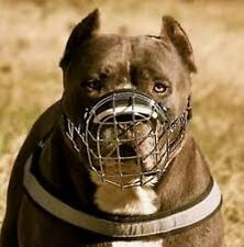 New Strong Metal Wire Basket Dog Muzzle Amstaff  Pitbull, Bull Terrier size 4, 5
