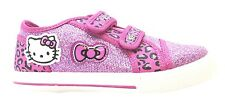Hello Kitty West Girl's Canvas Glitter Style Dual Velcro Strap Shiny Shoes New