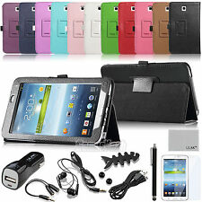 """Folio Leather Case Cover Stand For Samsung Galaxy Tab 3 7.0"""" 7-inch Tablet P3200"""