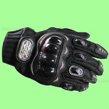 MOTORCYCLE PRO-BIKER CARBON FIBER RACING RIDING PROTECTIVE VENTED GLOVES - D68