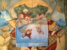 new BAMBI t-shirt LONG SLEEVE TOP jrs Pullover Disney Reflection Faline Water