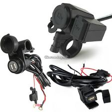 12V TWIN WATERPROOF MOTORCYCLE/MOTORBIKE CIGARETTE LIGHTER ADAPTER POWER SOCKET