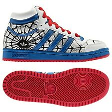 ADIDAS ORIGINALS TOP TEN HI SPIDERMAN KINDER SCHUHE MARVEL SNEAKER WEISS 34 35