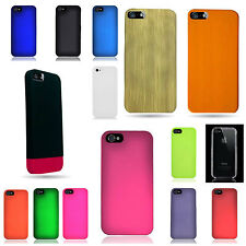 For Apple iPhone 5S 5 Hard Thin Snap On Rubberized Plastic Cover Slim Case