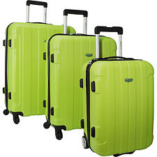 Traveler's Choice Rome 3-Piece Hardshell 6 Colors Hardside Luggage NEW