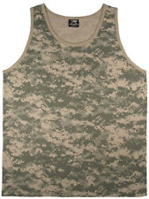 tank top camo acu digital camouflage army mens cotton poly blend rothco 8764