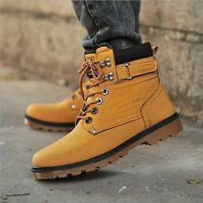New man fashion shoes leatherette Men lace heat Casual Winter Work boots X223